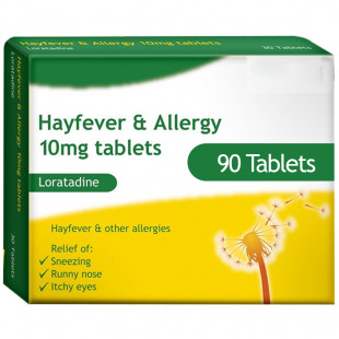 Loratadine (10mg) - Hay Fever & Allergy Relief - 90 Tablets