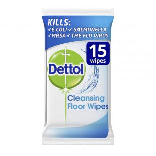 Dettol Antibacterial Floor Cleansing Wipes - Pack of 15
