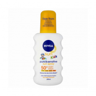 Nivea Sun Kids Pure & Sensitive Sun Spray 50+ Very High 200ml