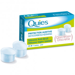 Quies Clear Silicone Earplugs - 3 Pairs
