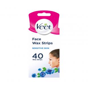 Veet Sensitive Face - 40 Cold Wax Strips