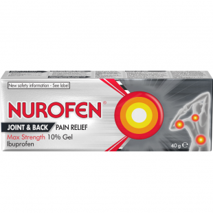 Nurofen Joint & Back Pain Relief Max Strength 10% Gel - 40g