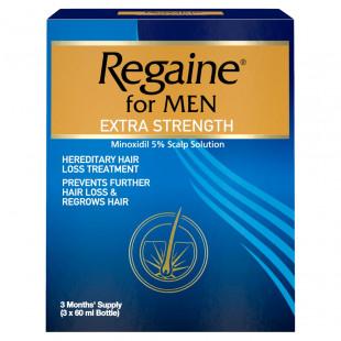 Regaine Extra Strength For Men Liquid - 3 x 60ml (180ml)