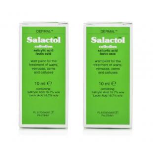 Salactol Wart Paint 10ml - (Pack of 2)