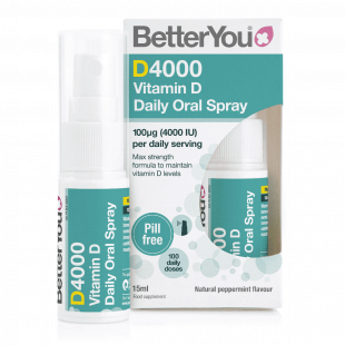 BetterYou DLux 4000 Vitamin D Oral Spray 4000IU (100mcg) - 15ml