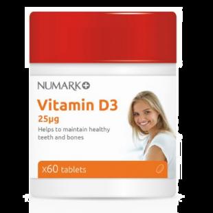 Numark Vitamin D 1000IU (25mcg) - 60 Tablets