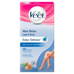 Veet Ready To Use Wax Strips for Sensitive Skin 20 Wax Strips