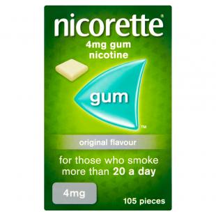 Nicorette Original Flavour Gum 4mg – 105 Pieces