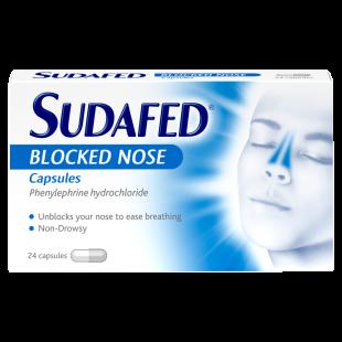 Sudafed Blocked Nose – 24 Capsules