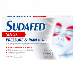 Sudafed Sinus Pressure & Pain Relief – 24 Tablets