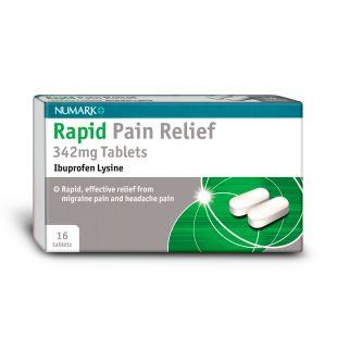 Numark Rapid Pain Relief - 16 x 342mg Tablets