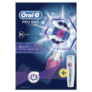 Oral-B Pro 680 3D White Pink Electric Toothbrush
