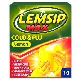 Lemsip Max Cold & Flu Lemon – 10 Sachets