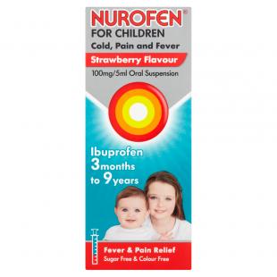 Nurofen For Children Cold, Pain & Fever Strawberry - 100ml