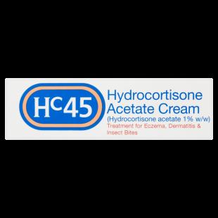 HC45 Hydrocortisone 1% w/w Acetate Cream - 15g