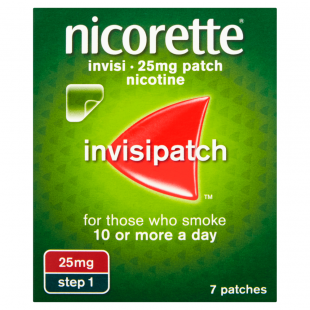 Nicorette Invisi 25mg (Step 1) Nicotine –7 Patches