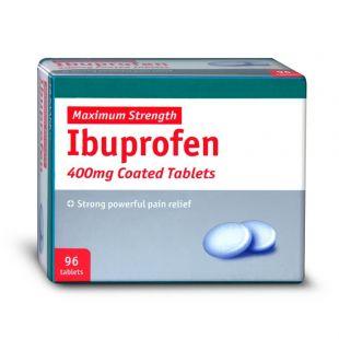 Ibuprofen - 96 x 400mg Tablets (Brand May Vary)