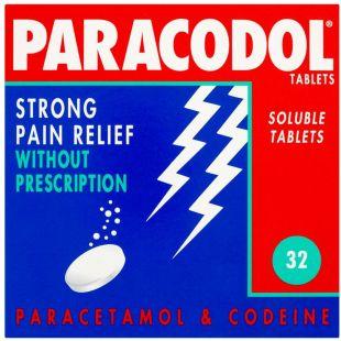 Paracodol (Codeine/Paracetamol) - 32 Soluble Tablets