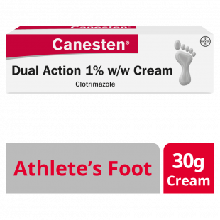 Canesten Athlete's Foot Dual Action 1% W/W Cream - 30g