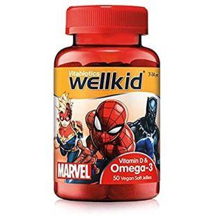 Vitabiotics Wellkid Marvel Omega-3 Plus Vitamin D Jellies - 50 Vegan Soft Jellies