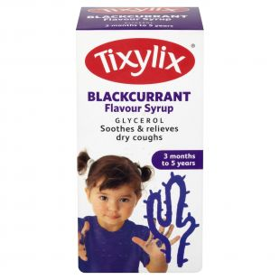 Tixylix Blackcurrant Syrup 3 Months to 5 Years – 100ml