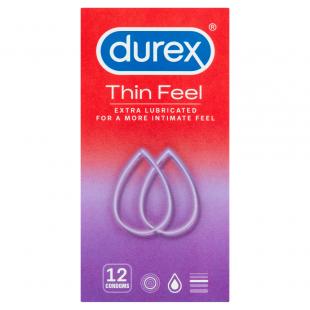 Durex Thin Feel Extra Lubricated - 12 Condoms