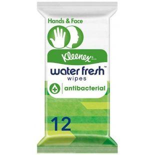 Kleenex Antibacterial Water Fresh Wipes - Pack of 12