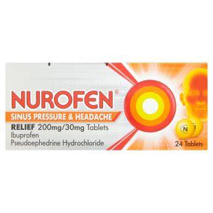 Nurofen Sinus Pressure & Headache Relief 200mg/30mg - 24 Tablets