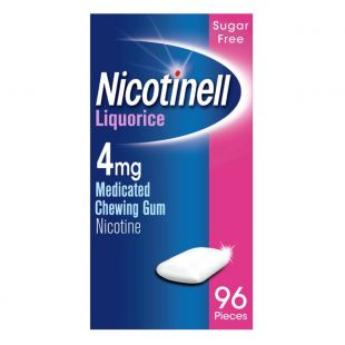Nicotinell Liquorice 4mg Medicated Chewing Gum Extra Strength Gum 96 Pieces