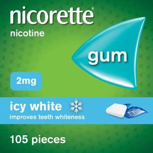 Nicorette Icy White 2mg Gum – 105 Pieces