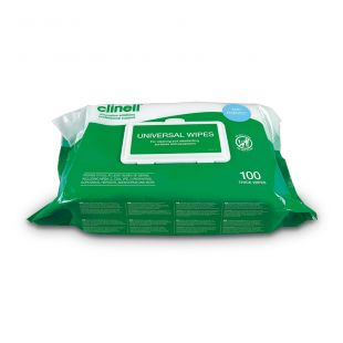 Clinell Universal Multi Purpose Antibacterial Wipes - Pack of 100
