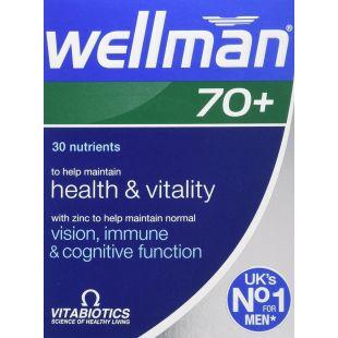 Vitabiotics Wellman 70+ - 30 Tablets