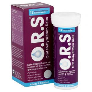 O.R.S Adults & Children Blackcurrant Flavour - 12 Soluble Tablets
