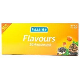 Pasante Mixed Flavours Condoms - 144 Pack