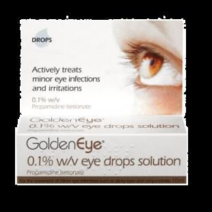 Golden Eye 0.1% w/v Eye Drops Solution - 10ml