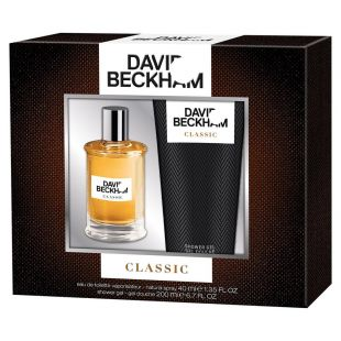 David Beckham Classic Gift Set 40ml Aftershave and 200ml Body Wash