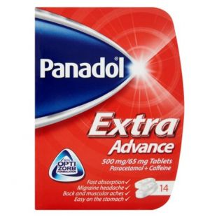 Panadol Extra Advance - 14 x 500mg/65mg Tablets