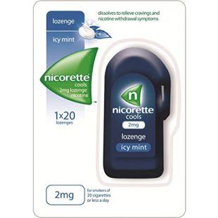 Nicorette Cools Icy Mint 2mg Nicotine – 20 Lozenges