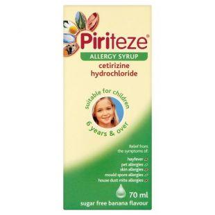 Piriteze Allergy Syrup Sugar Free Banana Flavour - 70ml