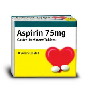 Aspirin Tablets 75mg Enteric Coated 28 Tablets (Brand May Vary)