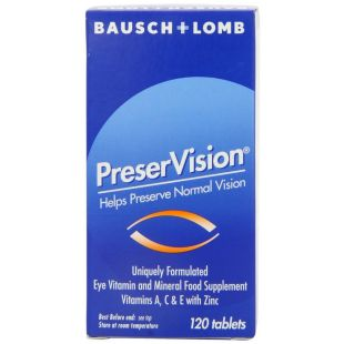Bausch and Lomb PreserVision - 120 Tablets