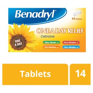 Benadryl Allergy 10mg One a Day Tablets – 14 Tablets