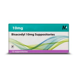 Bisacodyl Suppositories 10mg – Pack of 12