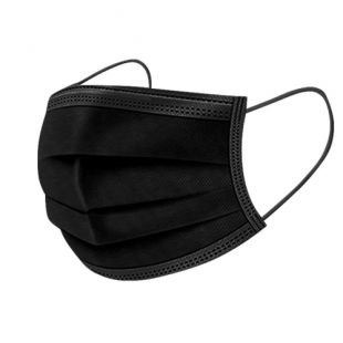 Disposable Civilian Protective Face Masks 3 Ply Black – Pack of 50