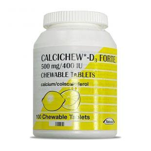 Calcichew D3 Forte 1.25g/400IU Chewable - 100 Tablets
