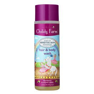 Childs Farm Blackberry & Organic Apple Hair & Body Wash - 250ml