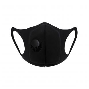Fashion Respiratory Face Mask With Valve Black - (Case of 10)