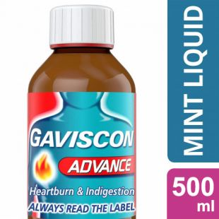 Gaviscon Advance Peppermint Flavoured Suspension - 500ml