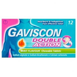 Gaviscon Double Action Mint - 12 Chewable Tablets