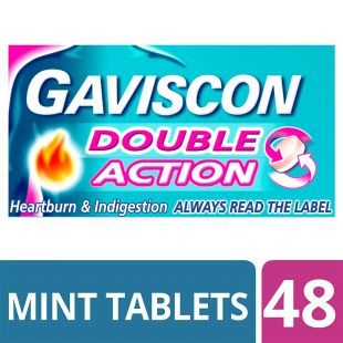Gaviscon Double Action Chewable Tablets Mint - 48 Tablets